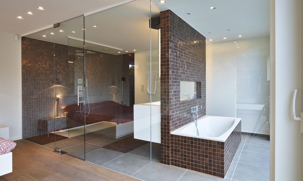 verre pour la salle de bain chez vous. Black Bedroom Furniture Sets. Home Design Ideas
